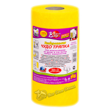 Bagi ЧУДО-ТРЯПКА ПРЕМИУМ – салфетка универсальная в рулоне для мытья любых поверхностей, супервпитывающая, 25х24 см, 30 шт