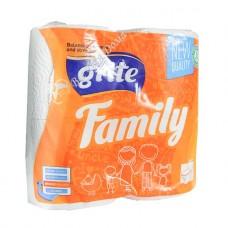 Grite Family - Туалетная бумага с перфорацией, 3 слоя, 4 шт