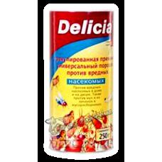 Delicia - Активная пищевая гранулированная приманка против вредных насекомых, 250 гр