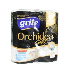 Grite Orchidea Gold - Полотенца бумажные, 3 слоя, 2 шт