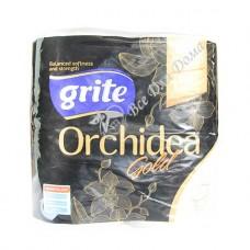 Grite Orchidea Gold - Туалетная бумага, 3 слоя, 4 шт