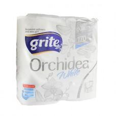 Grite Orchidea White - Туалетная бумага премиального качества, 3 слоя, 4 шт