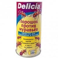 Delicia - Активная пищевая гранулированная приманка для муравьев в виде порошка 100 гр