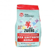 Kraft Zwerg Color концентрированный стиральный порошок для цветного белья 1 кг