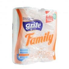 Grite Family - Полотенца бумажные, 2 слоя, 85 листов, 2 шт