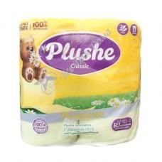 Plushe Classic Ромашка - Туалетная бумага с тиснением, 2 слоя,  4 шт