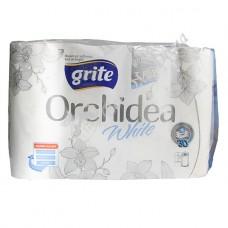 Grite Orchidea White - Полотенца бумажные, 3 слоя, 4 шт