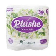 Plushe Light Deluxe Жасмин - Туалетная бумага с тиснением, 3 слоя, 4 шт