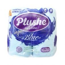 Plushe Light Color Blue - Туалетная бумага с тиснением, 2 слоя, 4 шт