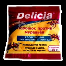 Delicia - Активная пищевая гранулированная приманка для муравьев в виде порошка 30 гр